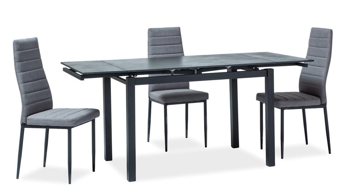 Jedálenský stôl TURIN rozkládací černý