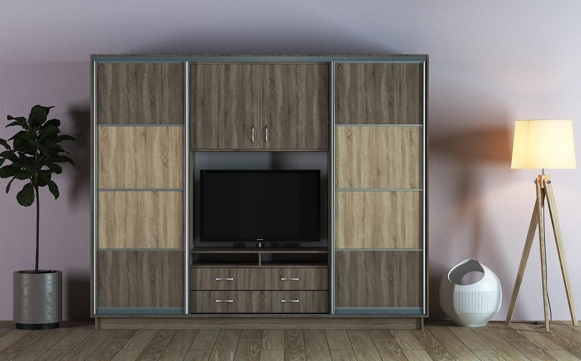 Šatní skříň/TV stěna UNIVERSAL II 270 lanýž/sonoma