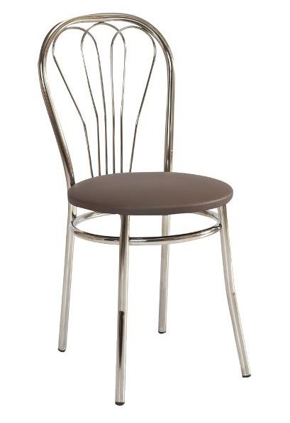 Jedálenská čalúnená stolička V-1 hnedá