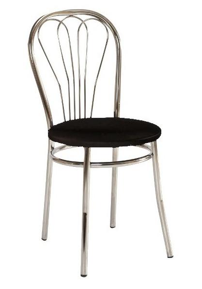 Jedálenská čalúnená stolička V-1 černá