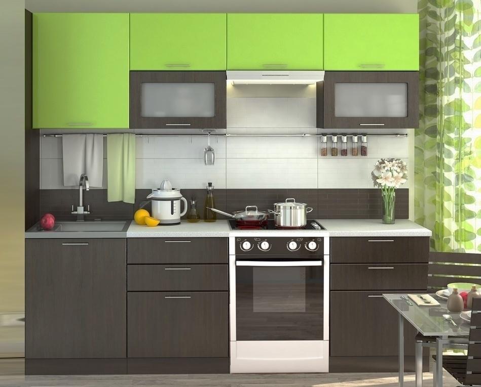 Kuchyně VALERIA 240 wenge/limeta lesk
