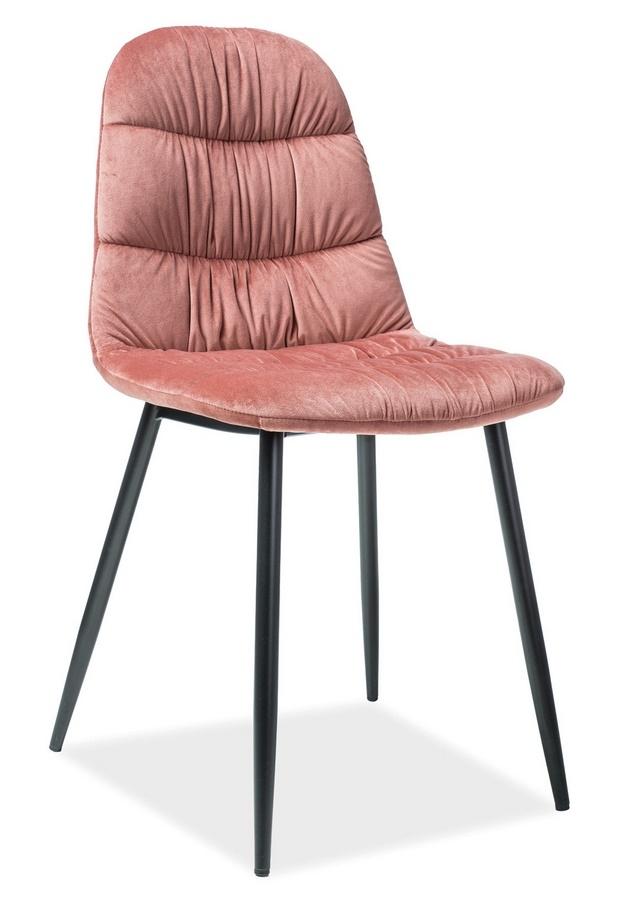 Jedálenská čalúnená stolička VEDIS ružová