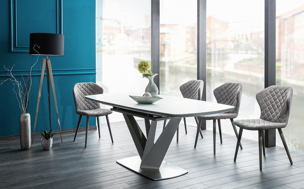 Jedálenská čalúnená stolička LOGAN šedá
