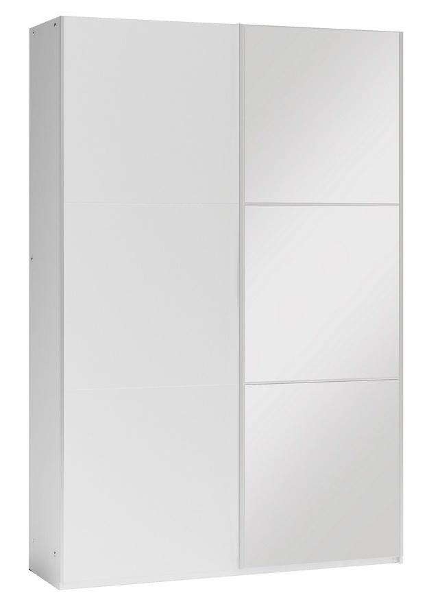 šatníková skriňa VIGO 120 biela/biela