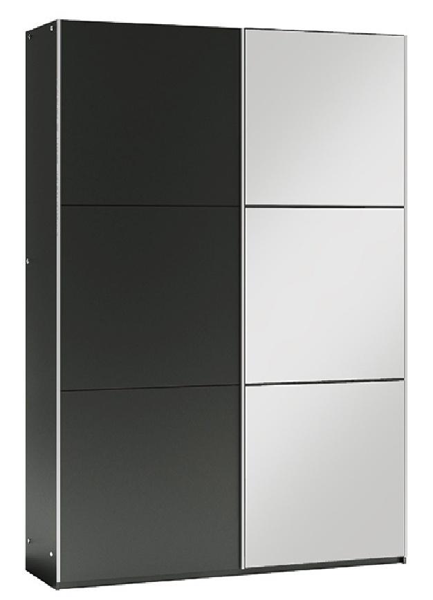 šatníková skriňa VIGO 120 černá/černá