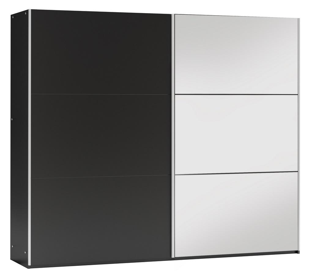 Šatní skříň VIGO 250 černá/černá