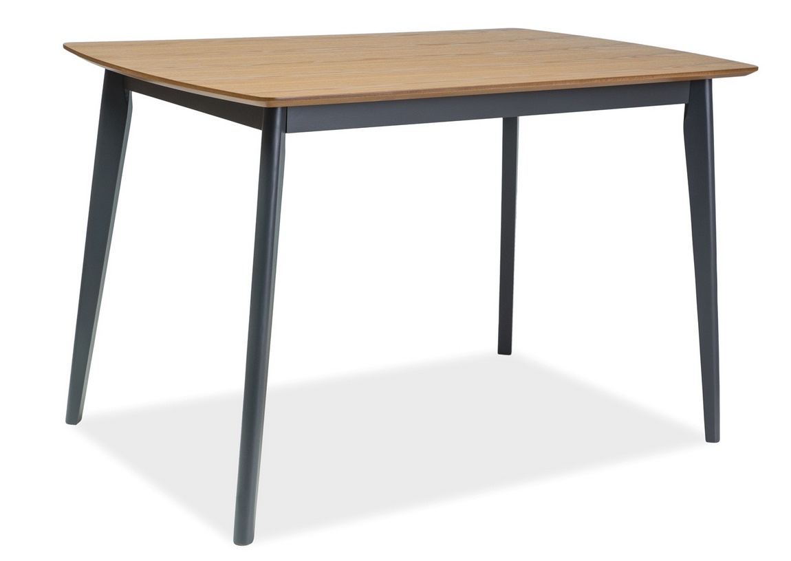 Jedálenský stôl VITRO 120 dub/grafit