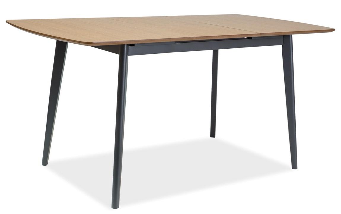 Jedálenský stôl rozkládací VITRO II 120-160 dub/grafit