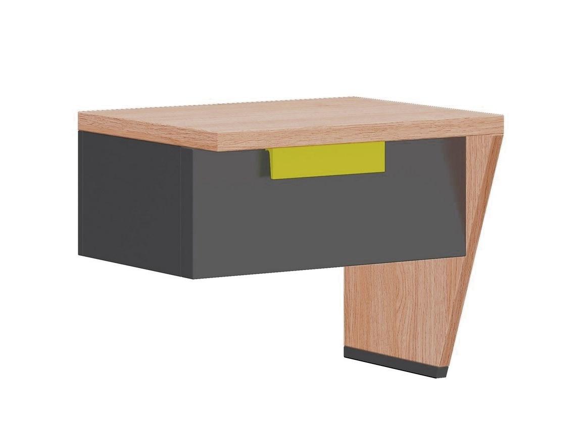 nočný stolík pravý WOW W-12 zelená