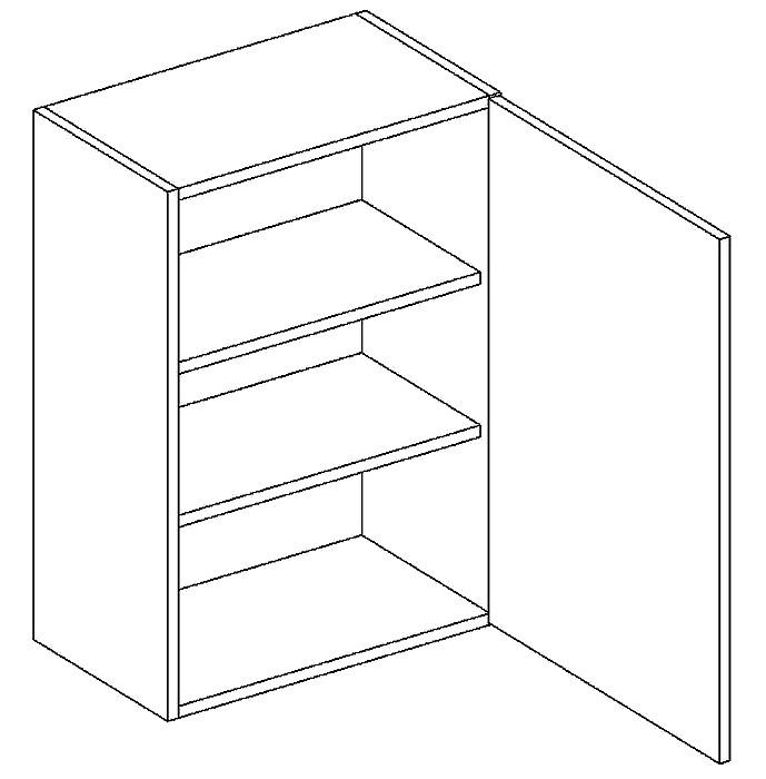 W45 h. skříňka pravá PAULA šedá/mat. šedá