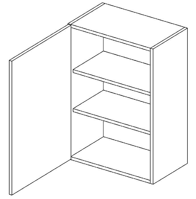 W45 h. skříňka levá PAULA šedá/mat. šedá