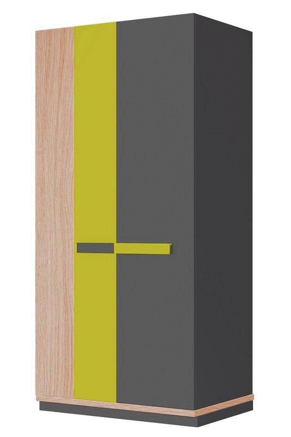 šatníková skriňa WOW W-4 zelená