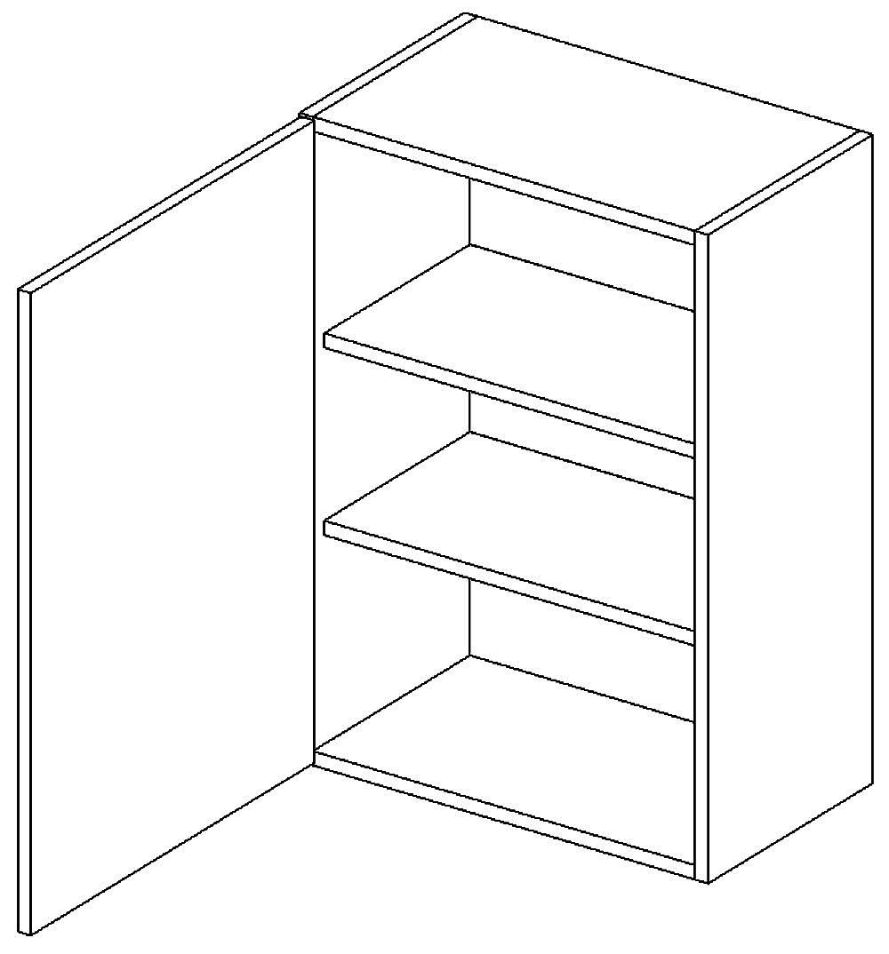W60 h. skříňka levá PAULA šedá/mat. šedá