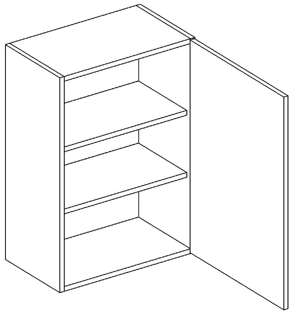 W60 h. skříňka pravá PAULA šedá/mat. šedá