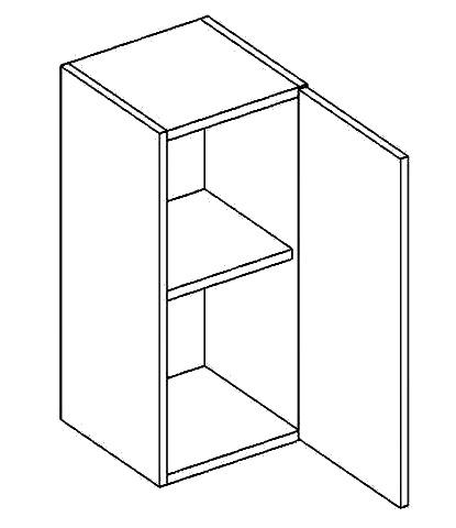 W30P horní skříňka jednodvéřová PREMIUM olše