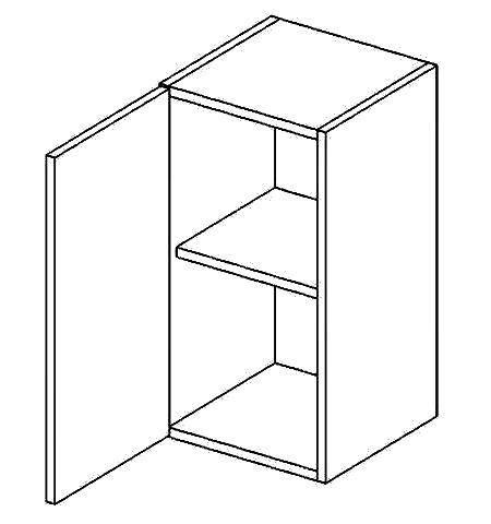 W40L horní skříňka jednodvéřová COSTA