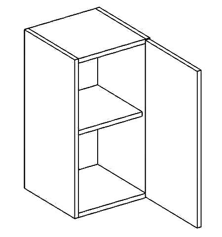 W40P horní skříňka jednodvéřová PREMIUM de LUX olše