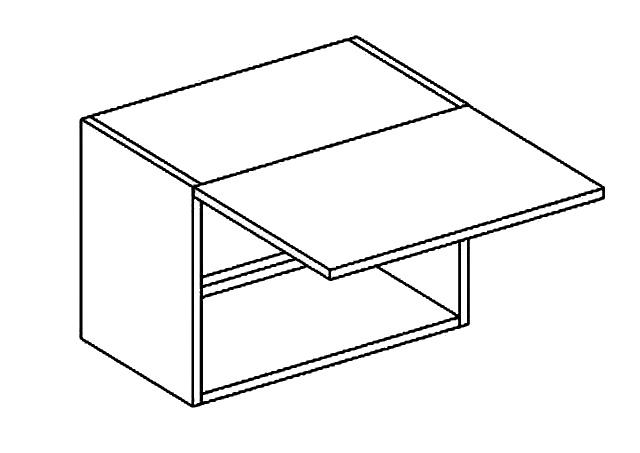 WO 50/35 skříňka nad digestoř PREMIUM de LUX hruška