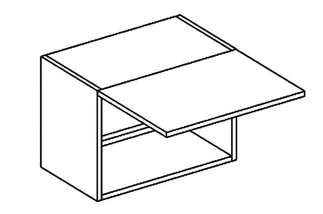 W50OKGR skříňka nad digestoř PAULA bílá mat
