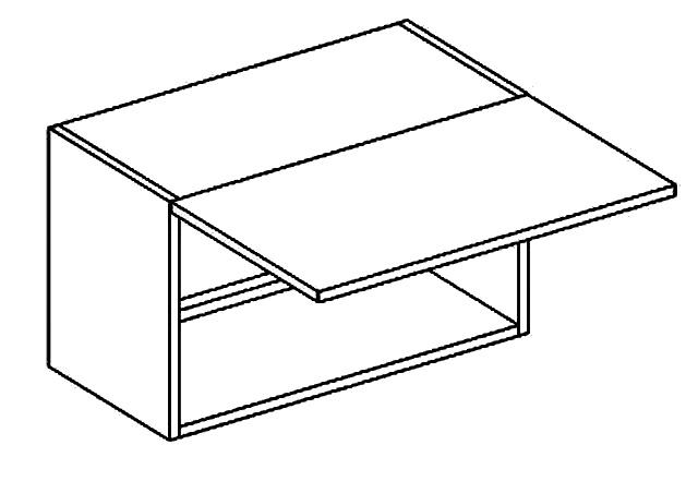 WO 60/35 skříňka nad digestoř PREMIUM de LUX hruška