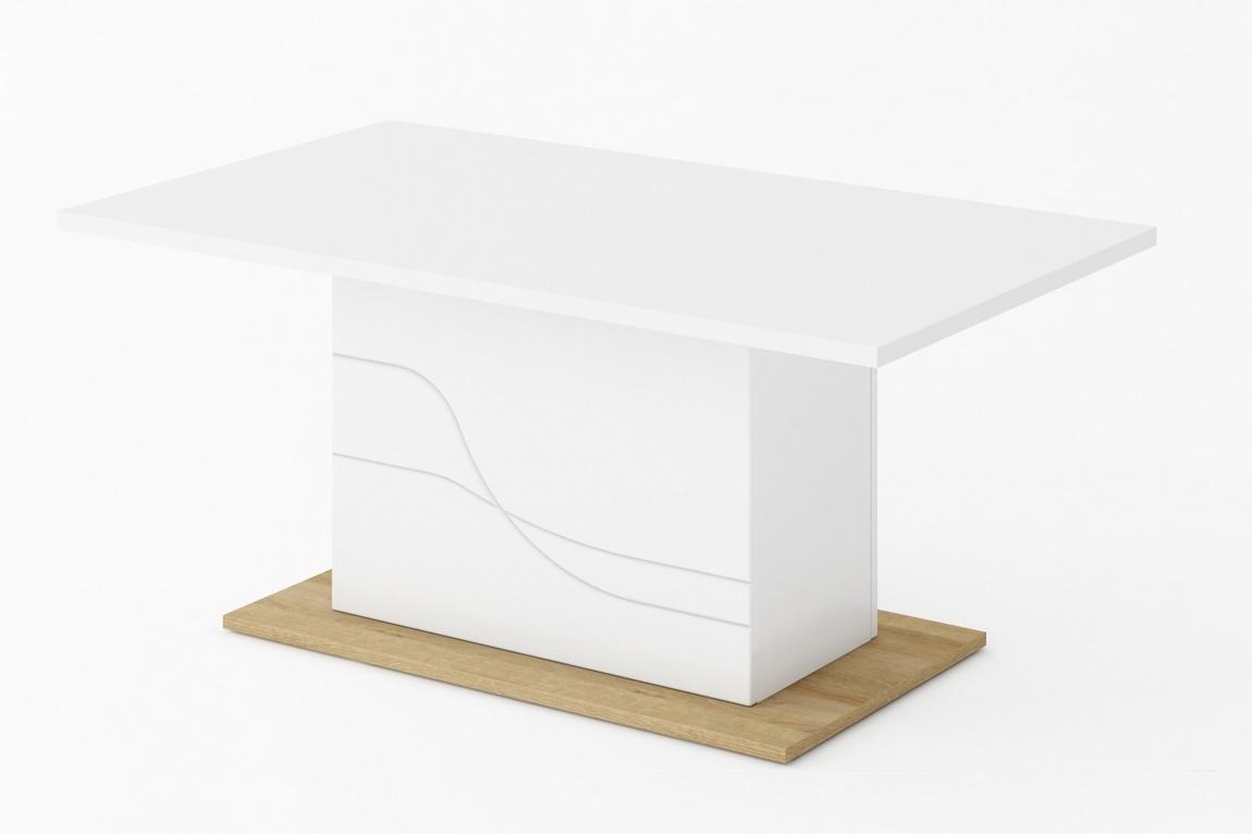 konferenčný stolík WAVE biela/dub riviera