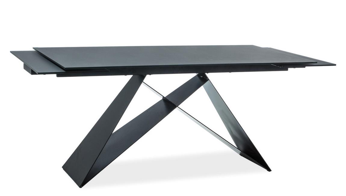 Jedálenský stôl rozkládací WESTIN II černý kámen/černý mat