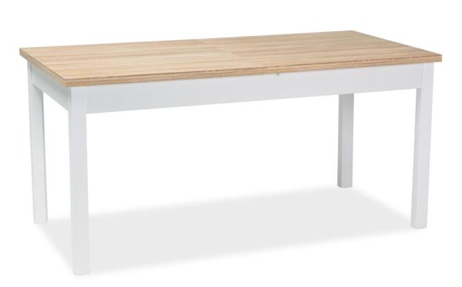 Jedálenský stôl rozkladací WIKTOR 140x75 biela/dub