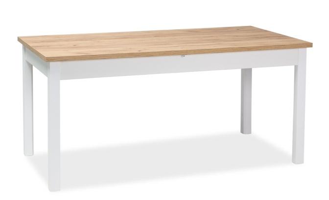 Jedálenský stôl rozkladací WIKTOR 160x80 biela/dub zlatý craft