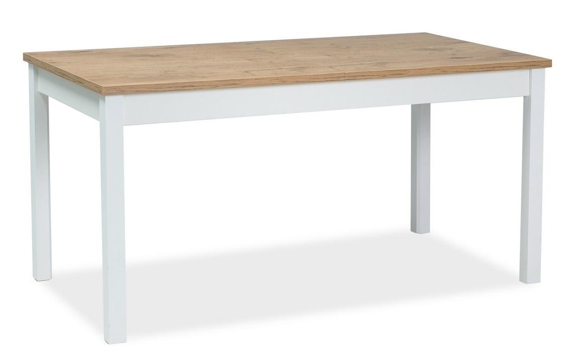 Jedálenský stôl rozkladací WIKTOR 140x75 biela/dub lancelot