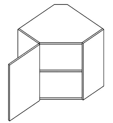 WR50L horní skříňka rohová PREMIUM hruška