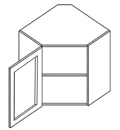 WR60WL h. vitrína rohová SANDY STYLE čiré sklo