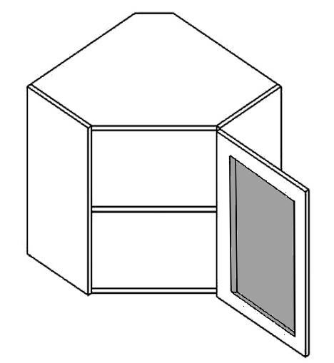 WR60WMR h. vitrína rohová PREMIUM hruška mraž. sklo
