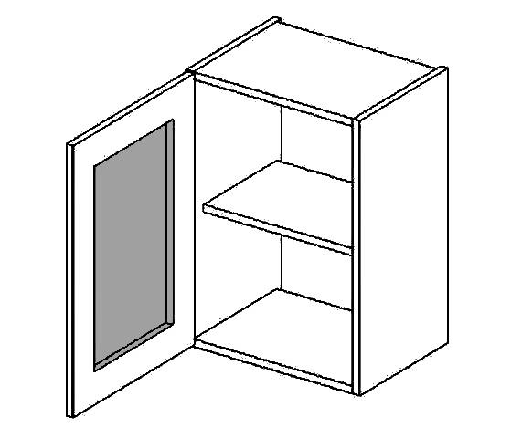 W40WLMR h. vitrína 1-dvéřová PREMIUM de LUX hruška mraž. sklo