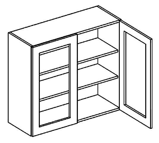 WS80 h. vitrína 2-dveřová PALMYRA šedá/mat. šedá
