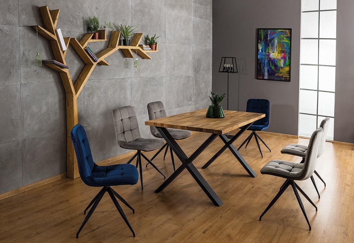 Jedálenská čalúnená stolička TEXO šedá